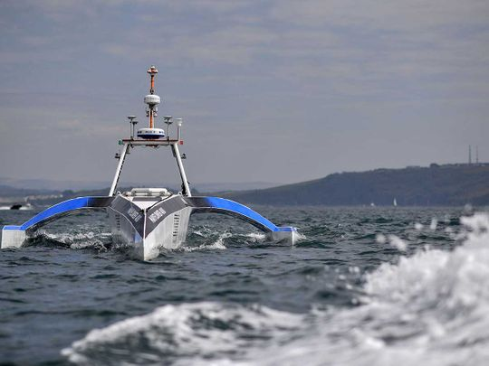 Mayflower autonomous ship trimaran plymouth