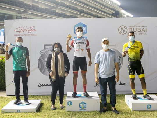 The 5K Nad Al Sheba winners were awarded on Thursday night