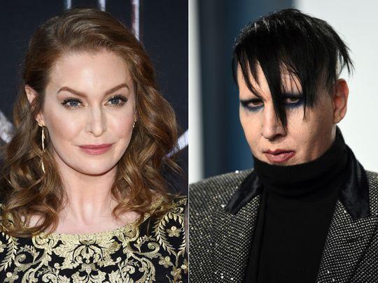 Esme Bianco and Marilyn Manson