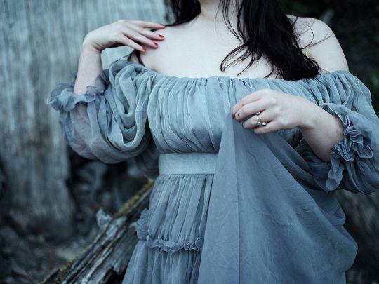 Grey dress fairytale fashion