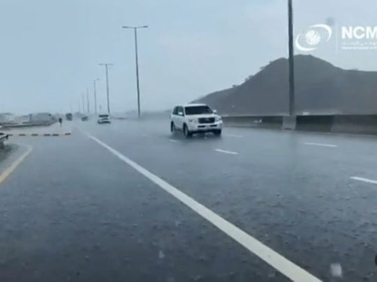 Rain in Fujairah, UAE