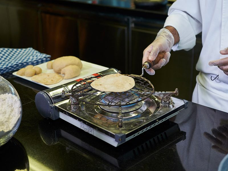 Step 11 - Making phulka roti or whole-wheat flour Indian bread