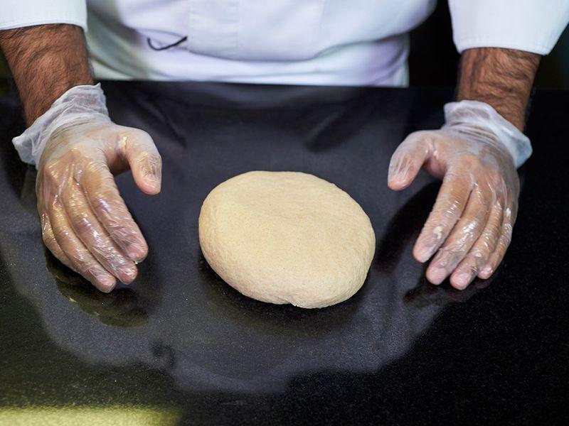 Step-6 Making phulka rotis or whole-wheat flour puffed Indian bread