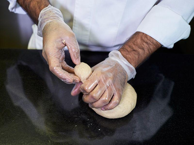 Step-7 Making phulka roti or whole-wheat flour puffed Indian bread