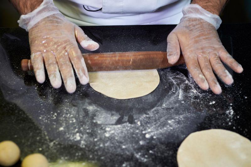Step-8 making phulka roti or whole-wheat flour puffed Indian bread