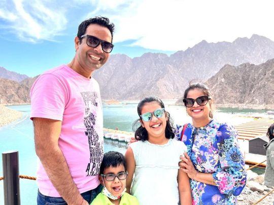 Indian expat girl Sara with family-1620040032229