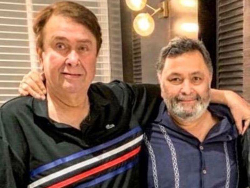 Randhir Kapoor and Rishi Kapoor