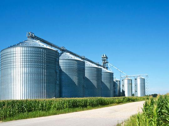 STOCK Grain silos