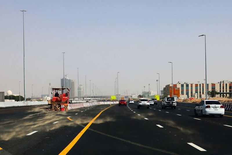 Strong winds, dust storm across the UAE.
