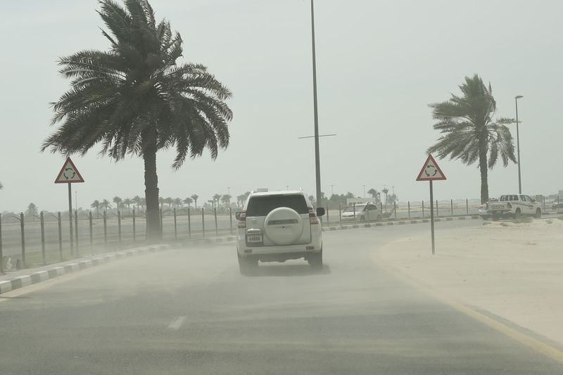 Strong winds, dust storm on Monday