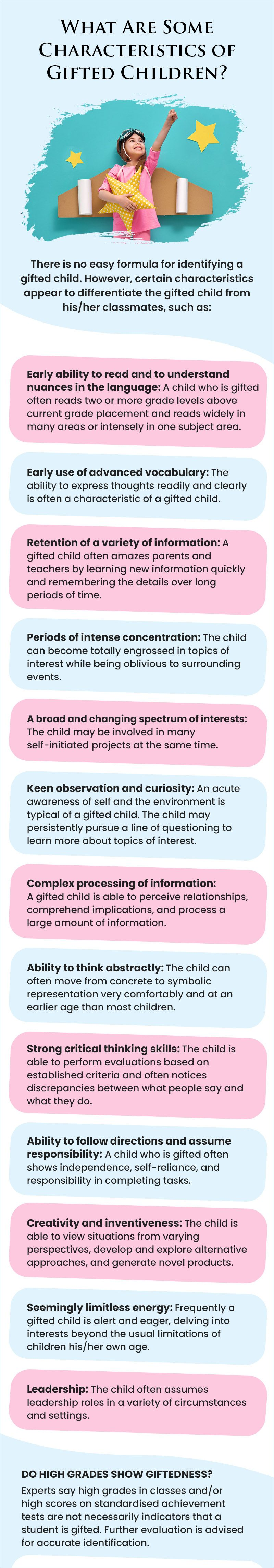 How to spot gifted children