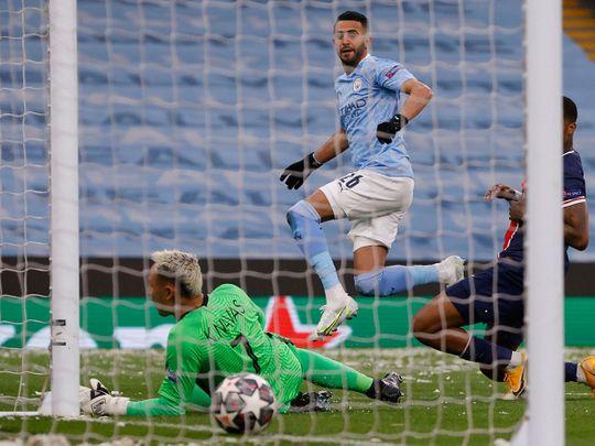 Mahrez scores against PSG