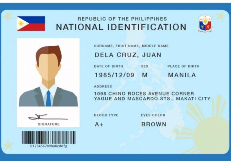 Philippine ID sample