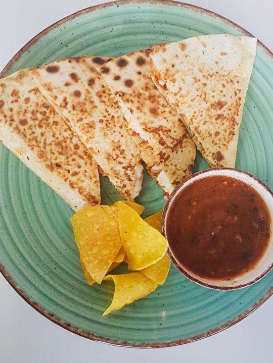 Quesadilla, El Mostacho restaurant