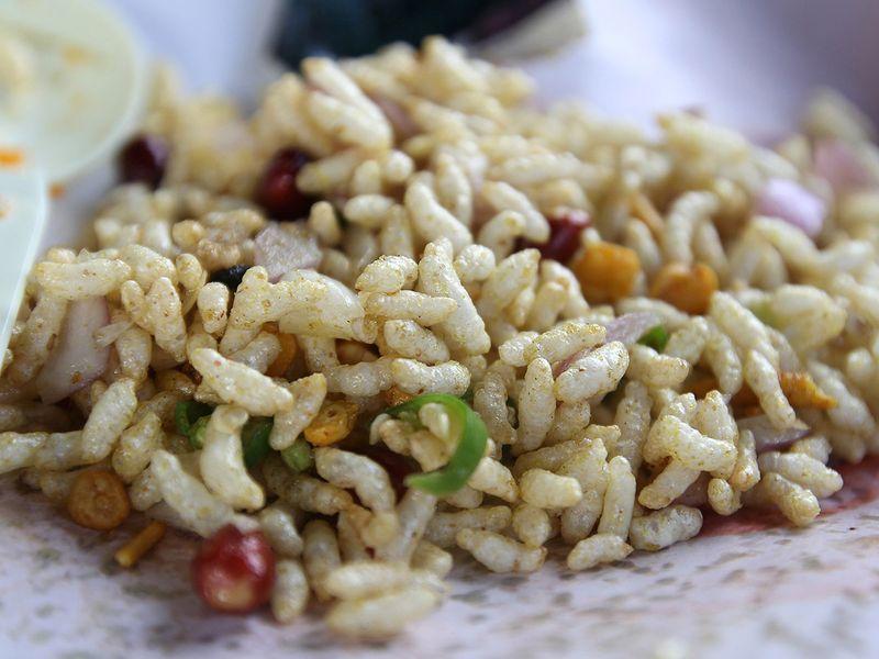 Jhaal Muri or Bengali - spiced puffed rice