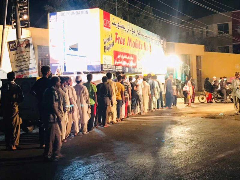 Karachi free meals restaurant mobile