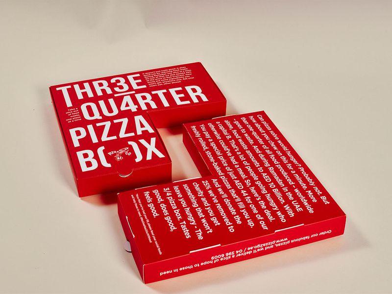 Pizaa2go 3/4 pizza box