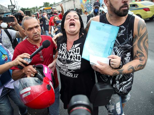 Brazil rio slum police drug