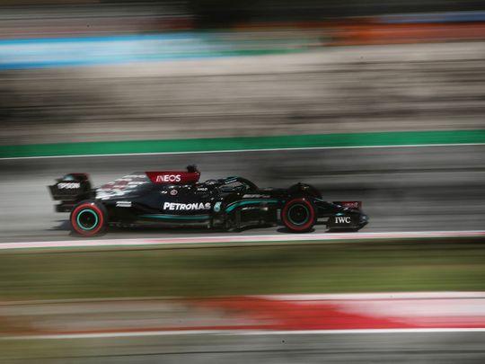 Lewis Hamilton was fastest in Spain practice
