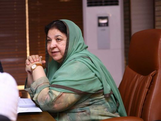 Dr Yasmin Rashid, Punjab Minister of Primary and Secondary Healthcare