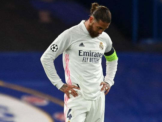 Sergio Ramos and Real Madrid lost to Chelsea in the Champions League semis
