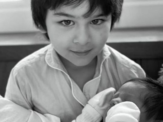 Kareena Kapoor's son Taimur with his young brother