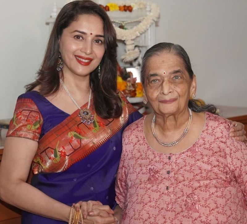 Madhuri Dixit and her mother