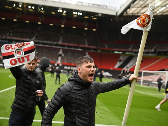 Manchester United fans protest at Old Trafford