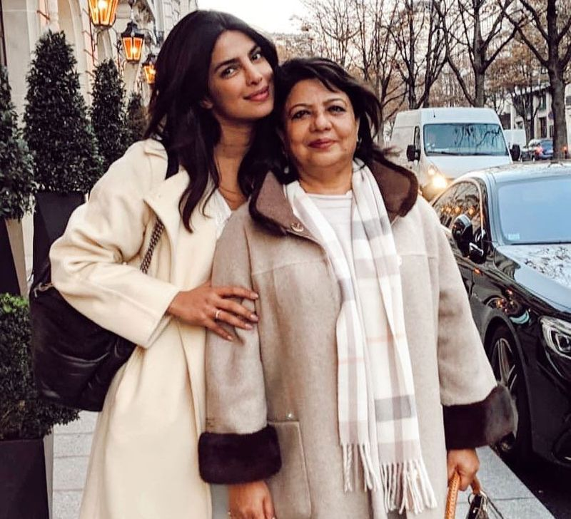Priyanka Chopra with mother Madhu Chopra