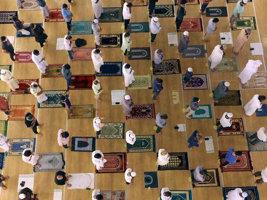 Eid mosque prayer