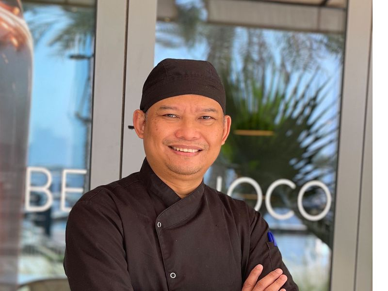 Ranson Besa Pilapil, or 'Chef Bong', the pastry chef at Mondoux restaurant