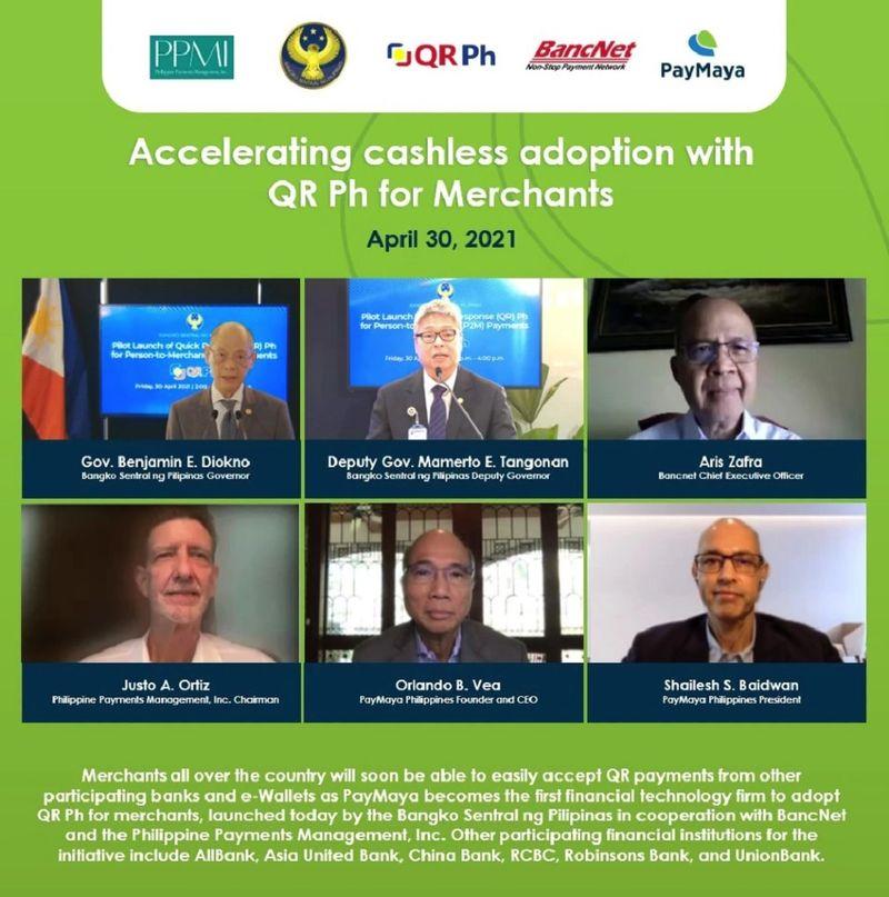 BSP QR Payments Philippines e-wallet gcash paymaya