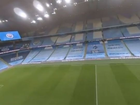 Footage from the Manchester City drone video