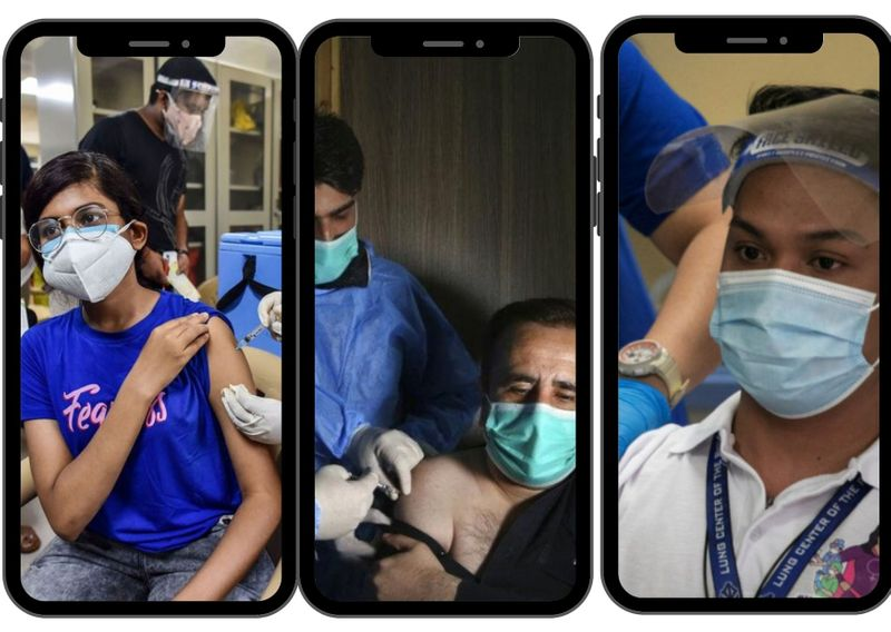 India Pakistan Philippines vaccinations