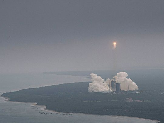 The Chinese space station rocket during launch last month