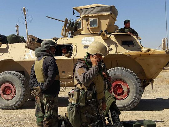 Afghan security forces Taliban helmand