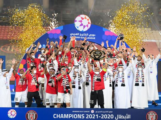 Al Jazira are crowned Ababian Gulf League champions