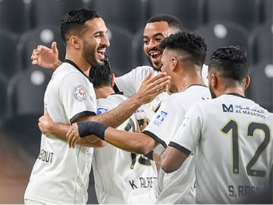 It was [party time for Al Jazira as the claimed their third Arabian Gulf League title
