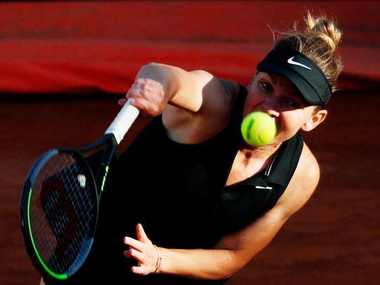 Tennis - Halep in Rome