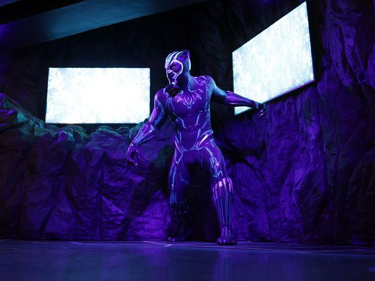 Black Panther figure at Madame Tussauds