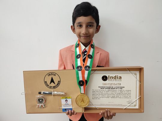 Five-year-old Indian expatriate boy in Dubai sets record