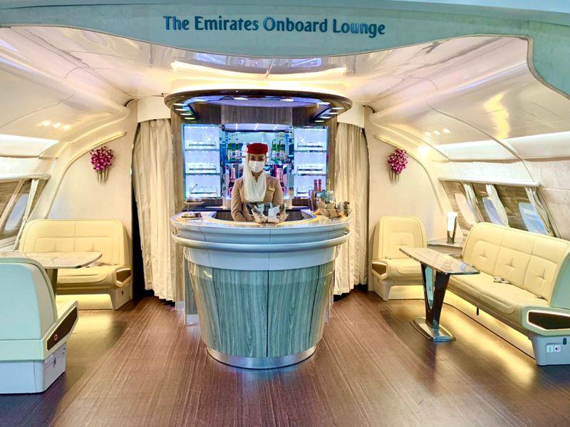 Emirates A380 replica at ATM