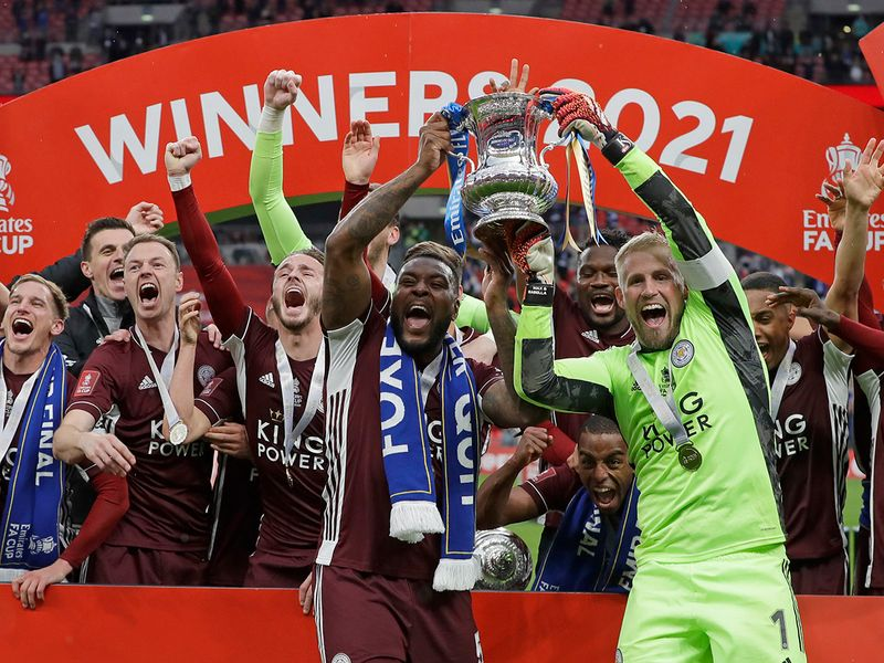 Leicester City celebrate first FA Cup win after defeating Chelsea.