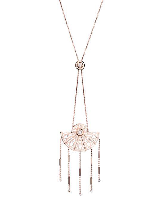 Adler Long necklace Fantastic, diamonds on rose gold