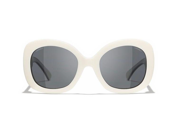 Chanel White and black sunglasses