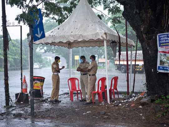 India kerala cyclone rain