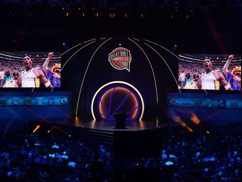 Kobe Bryant is inducted into the NBA Basketball Hall of Fame