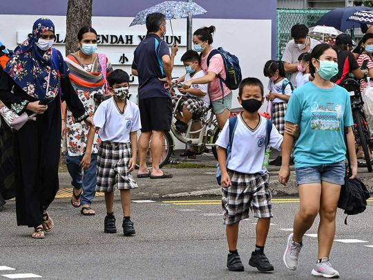 singapore children school covid