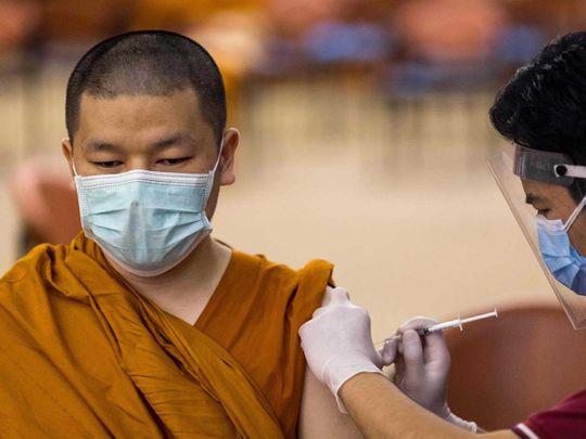 Buddhist monk covid vaccine sinovac