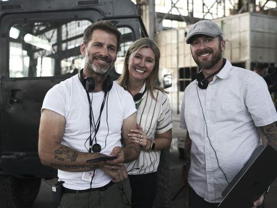 Director Zack Snyder on set of Army of the Dead-1621335103719